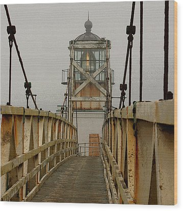 Point Bonita Lighthouse Wood Print by Art Block Collections