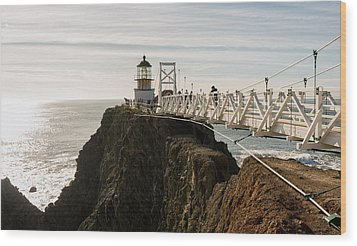 Point Bonita Lighthouse Wood Print by Georgia Fowler