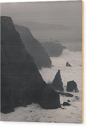 Wood Print featuring the photograph Point Bonita Lighthouse by Scott Rackers