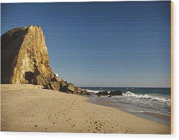 Point Dume At Zuma Beach Wood Print by Adam Romanowicz