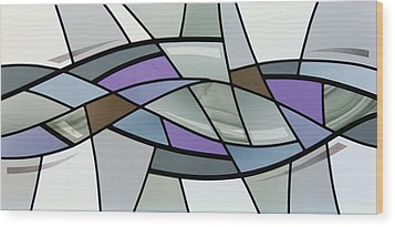 Wood Print featuring the glass art Point Grey Abstract by Gilroy Stained Glass
