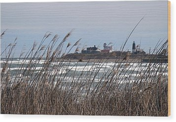 Wood Print featuring the photograph Point Judith Lighthouse by Glenn DiPaola