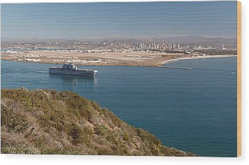 Wood Print featuring the photograph Point Loma Looking Toward San Diego by Scott Rackers