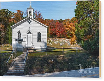 Point Mountain Community Church - Wv Wood Print