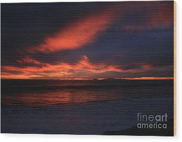 Point Mugu 1-9-10 Just After Sunset Wood Print by Ian Donley