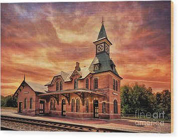 Point Of Rocks Train Station  Wood Print by Lois Bryan