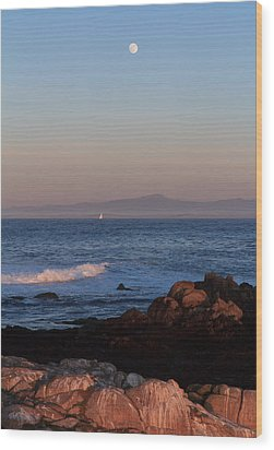 Wood Print featuring the photograph Point Pinos At Dusk by Scott Rackers