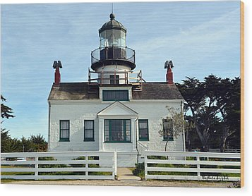Point Pinos Lighthouse Wood Print by Barbara Snyder
