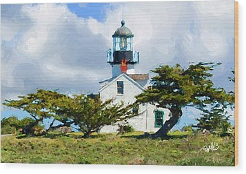 Point Pinos Lighthouse - Pacific Grove Ca Wood Print