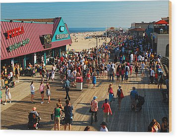 Point Pleasant Boardwalk Wood Print by James Kirkikis
