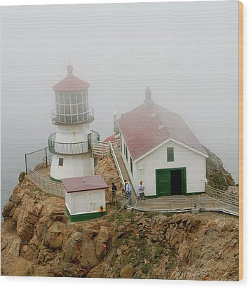 Point Reyes Lighthouse Wood Print by Art Block Collections