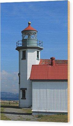 Wood Print featuring the photograph Point Robinson Light House by E Faithe Lester