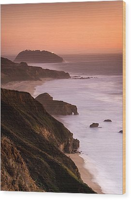 Point Sur Lighthouse Wood Print by Alexis Birkill