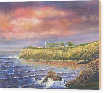 Point Vicente Lighthouse Wood Print by Douglas Castleman