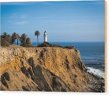 Point Vicente Lighthouse Wood Print by Eleanor Abramson