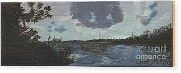 Pointe Of Chein Blue Skies Wood Print