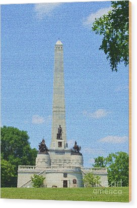 Wood Print featuring the digital art Pointelisticlincoln's Tomb  by Luther Fine Art