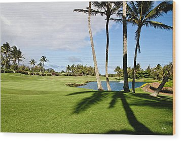 Poipu Bay #18 Wood Print by Scott Pellegrin
