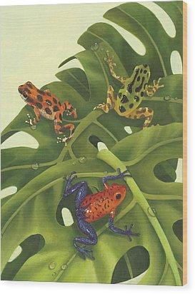 Poison Pals Wood Print by Laura Regan