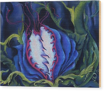 Wood Print featuring the pastel Poisonous by Susan Will