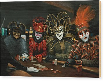Poker Face IIi Wood Print