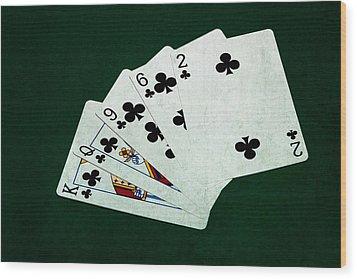 Poker Hands - Flush 3 Wood Print