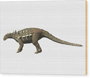 Polacanthus Foxii, Early Cretaceous Wood Print by Nobumichi Tamura