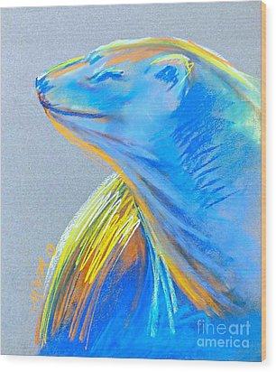 Polar Bear Sun Wood Print