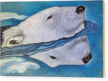 Polar Dip Wood Print
