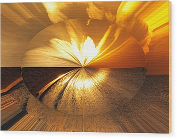 Polarized Sunset Wood Print