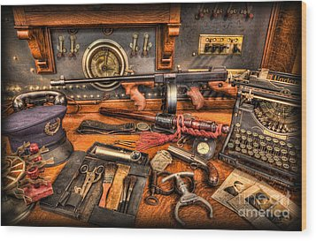 Police - Behind The Front Desk Wood Print by Lee Dos Santos