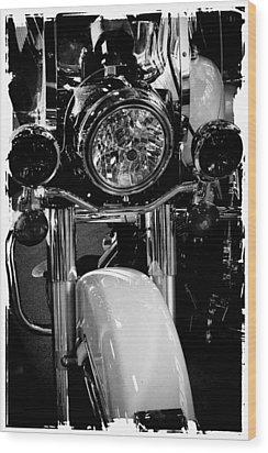 Police Harley II Wood Print by David Patterson