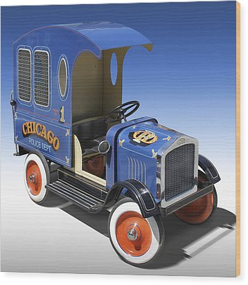 Police Peddle Car Wood Print by Mike McGlothlen