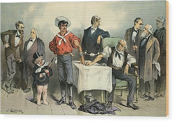Political Blood Transfusion, 19th Wood Print by Science Photo Library