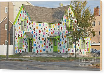 Polka Dot House Wood Print by Steve Augustin