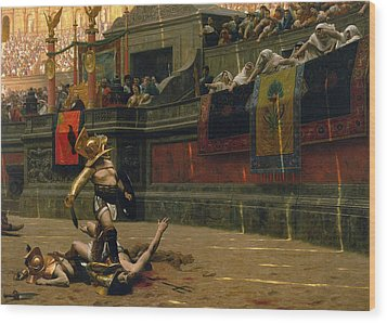 Pollice Verso Wood Print by War Is Hell Store