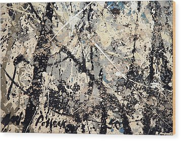 Pollock's Name On Lavendar Mist Wood Print
