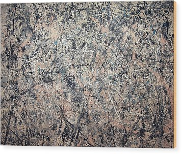 Pollock's Number 1 -- 1950 -- Lavender Mist Wood Print by Cora Wandel