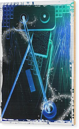 Poltergeist Wood Print