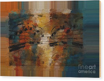 Polychromatic Postlude 5 Wood Print by Lon Chaffin