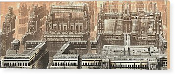Polychrony Wood Print by Bernard MICHEL