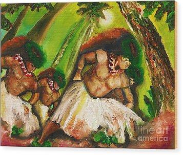 Polynesian Chant Wood Print