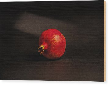 Pomegranate Wood Print by Peter Tellone