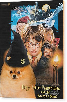 Pomeranian Art Canvas Print - Harry Potter Movie Poster Wood Print