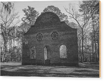 Pon Pon Chapel Of Ease Wood Print by Steven  Taylor
