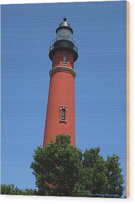 Ponce Inlet Lighthouse Florida Wood Print by Brian Johnson