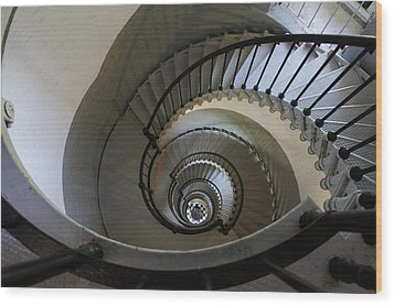 Ponce Stairs Wood Print by Laurie Perry