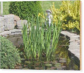 Wood Print featuring the photograph Pond Garden by Margaret Newcomb