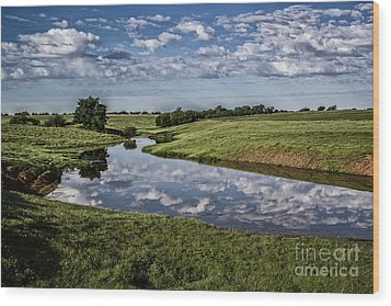 Pond Reflections Wood Print by Jim McCain