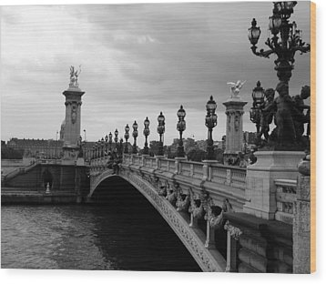 Wood Print featuring the photograph Pont Alexander by Lisa Parrish